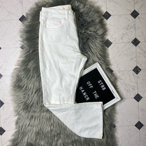 NWT kate spade broome street white flare jeans 28
